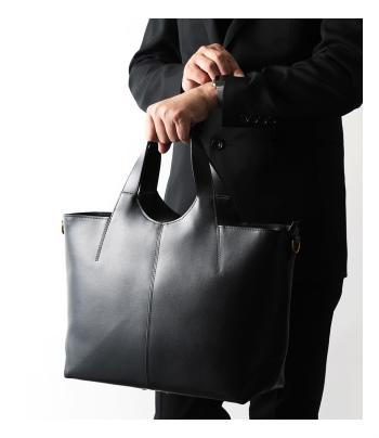 池田屋鞄のツーピースレザートートバッグ