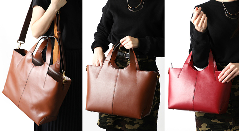 池田屋鞄のレザーバッグ