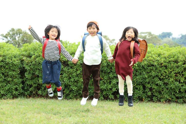 池田屋ランドセルを背負った子供たち